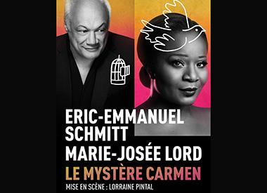 Spectacle Le mystère Carmen: d'Eric-Emmanuel Schmitt présenté au Carré 150  de Victoriaville