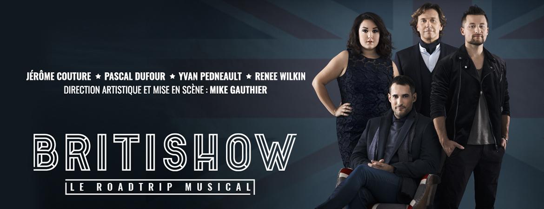 Spectacle Britishow: Le roadtrip musical présenté au Carré 150  de Victoriaville